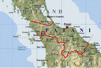 Pattani Thailand Map.The Roots Of The Patani Insurgency Wikipedia Et Alia Fact