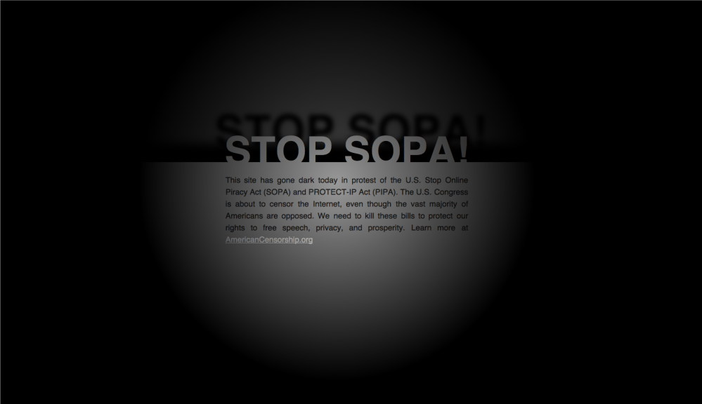 US world police: Stop SOPA! Stop PIPA! (1/2)