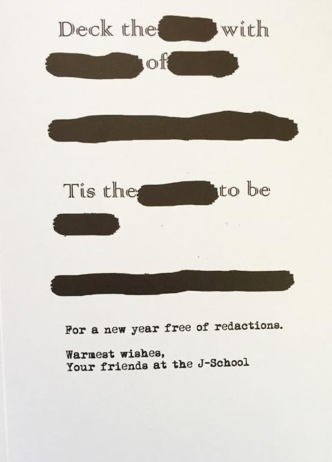 Free Speech Xmas card